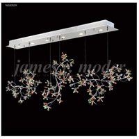 Continental Fashion 6 Light 9 inch Silver Mini Chandelier Ceiling Light, Floral