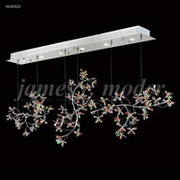 James R. Moder 96183S2X Continental Fashion 6 Light 9 inch Silver Crystal Chandelier Ceiling Light Floral