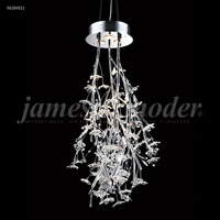 James R. Moder 96184S11 Continental Fashion 3 Light 21 inch Silver Chandelier Ceiling Light Floral