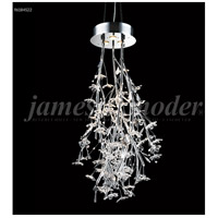 James R. Moder 96184S22 Continental Fashion 3 Light 21 inch Silver Chandelier Ceiling Light Floral