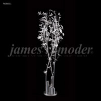 James R. Moder 96186S11 Continental Fashion 1 Light 25 inch Silver Crystal Chandelier Ceiling Light, Floral
