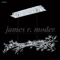 James R. Moder 96188S11 Continental Fashion 5 Light 15 inch Silver Crystal Chandelier Ceiling Light Floral