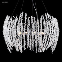 James R. Moder 96195S22 Continental Fashion 9 Light 25 inch Silver Crystal Chandelier Ceiling Light