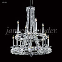 James R. Moder 96249S22 Ashton 12 Light 28 inch Silver Chandelier Ceiling Light