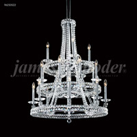 James R. Moder 96250S22 Ashton 20 Light 32 inch Silver Entry Chandelier Ceiling Light Large