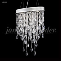 James R. Moder 96253S22 Sculptured Leaf 3 Light 7 inch Silver Mini Chandelier Ceiling Light Oval