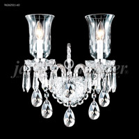 James R. Moder 96262S11-60 Venetian Collection 2 Light Silver Wall Sconce Wall Light