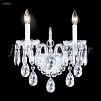James R. Moder 96262S11 Venetian Collection 2 Light Silver Wall Sconce Wall Light