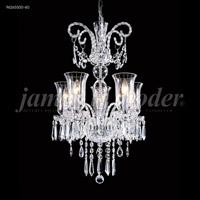 James R. Moder 96265S00-60 Venetian Collection 5 Light 20 inch Silver Pendant Ceiling Light