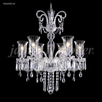 James R. Moder 96266S00-60 Venetian 6 Light 28 inch Silver Chandelier Ceiling Light