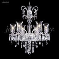 James R. Moder 96266S00-60 Venetian Collection 6 Light 28 inch Silver Chandelier Ceiling Light