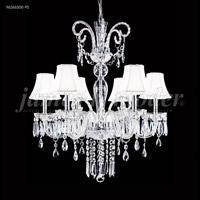 James R. Moder 96266S00-95 Venetian 6 Light 28 inch Silver Chandelier Ceiling Light
