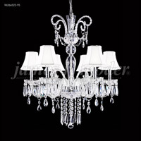James R. Moder 96266S22-95 Venetian 6 Light 28 inch Silver Chandelier Ceiling Light