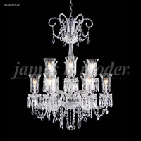 James R. Moder 96268S11-60 Venetian 12 Light 32 inch Silver Chandelier Ceiling Light