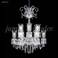 James R. Moder 96268S11-60 Venetian Collection 12 Light 32 inch Silver Chandelier Ceiling Light