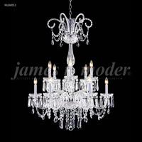 James R. Moder 96268S11 Venetian Collection 12 Light 32 inch Silver Chandelier Ceiling Light