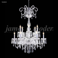 James R. Moder 96268S22 Venetian 12 Light 32 inch Silver Chandelier Ceiling Light