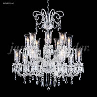 James R. Moder 96269S11-60 Venetian 16 Light 39 inch Silver Chandelier Ceiling Light