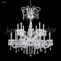 James R. Moder 96269S11 Venetian 16 Light 39 inch Silver Chandelier Ceiling Light