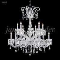 James R. Moder 96269S11 Venetian Collection 16 Light 39 inch Silver Chandelier Ceiling Light