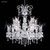 James R. Moder 96269S22-60 Venetian Collection 16 Light 39 inch Silver Chandelier Ceiling Light