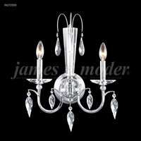 Sculptured Leaf 2 Light Silver Wall Sconce Wall Light