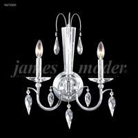 James R. Moder 96272S00 Sculptured Crystal Leaf 2 Light 15 inch Silver Crystal Chandelier Ceiling Light