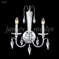 James R. Moder 96272S22 Sculptured Crystal Leaf 2 Light 15 inch Silver Crystal Chandelier Ceiling Light