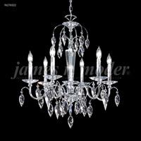 James R. Moder 96276S22 Sculptured Crystal Leaf Collection 6 Light 26 inch Silver Chandelier Ceiling Light