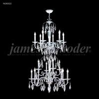 James R. Moder 96280S22 Sculptured Crystal Leaf Collection 18 Light 29 inch Silver Entry Chandelier Ceiling Light