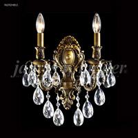 James R. Moder 96292HB11 Nova Paris Collection 2 Light Honey Bronze Sconce Wall Light