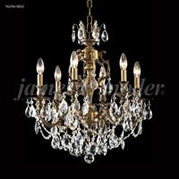 James R. Moder 96296HB00 Nova Paris 6 Light 21 inch Honey Bronze Crystal Chandelier Ceiling Light
