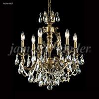 James R. Moder 96296HB0T Nova Paris 6 Light 21 inch Honey Bronze Chandelier Ceiling Light