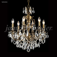 James R. Moder 96296HB11 Nova Paris 6 Light 21 inch Honey Bronze Chandelier Ceiling Light