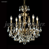 James R. Moder 96296HB2GT Nova Paris 6 Light 21 inch Honey Bronze Chandelier Ceiling Light