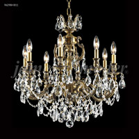 James R. Moder 96298HB11 Nova Paris 8 Light 25 inch Honey Bronze Chandelier Ceiling Light