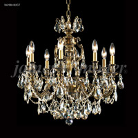 James R. Moder 96298HB2GT Nova Paris 8 Light 25 inch Honey Bronze Crystal Chandelier Ceiling Light