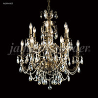 James R. Moder 96299HB0T Nova Paris 12 Light 28 inch Honey Bronze Chandelier Ceiling Light
