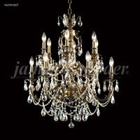 James R. Moder 96299HB0T Nova Paris Collection 12 Light 28 inch Honey Bronze Chandelier Ceiling Light
