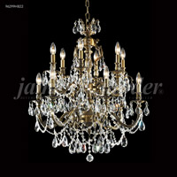 James R. Moder 96299HB22 Nova Paris 12 Light 28 inch Honey Bronze Chandelier Ceiling Light