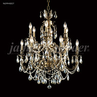 James R. Moder 96299HB2GT Nova Paris 12 Light 28 inch Honey Bronze Chandelier Ceiling Light