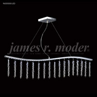 James R. Moder 96305S00LED Fashionable Broadway LED Silver Linear Pendant Ceiling Light