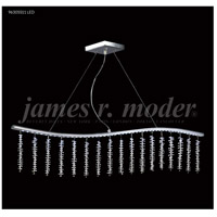 James R. Moder 96305S11LED Fashionable Broadway LED Silver Linear Pendant Ceiling Light