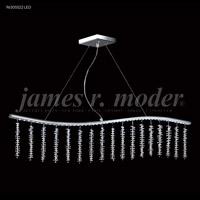 James R. Moder 96305S22LED Fashionable Broadway LED Silver Linear Pendant Ceiling Light