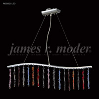 James R. Moder 96305S2XLED Fashionable Broadway LED Silver Linear Pendant Ceiling Light