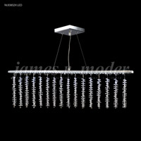 James R. Moder 96308S2XLED Fashionable Broadway LED Silver Linear Pendant Ceiling Light