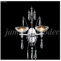 James R. Moder 96312S00 Medallion 2 Light Silver Wall Sconce Wall Light