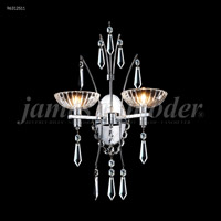 James R. Moder 96312S11 Medallion 2 Light Silver Wall Sconce Wall Light