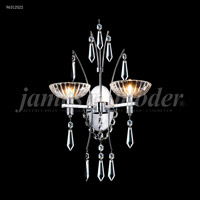James R. Moder 96312S22 Medallion 2 Light 14 inch Silver Crystal Chandelier Ceiling Light