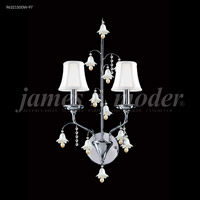 James R. Moder 96321S00W-97 Murano 2 Light Silver Wall Sconce Wall Light